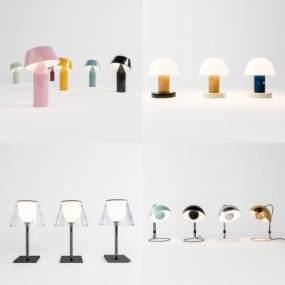 現代簡約臺燈組合3D模型【ID:850174137】