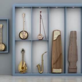 新中式乐器组合3D模型【ID:335221962】