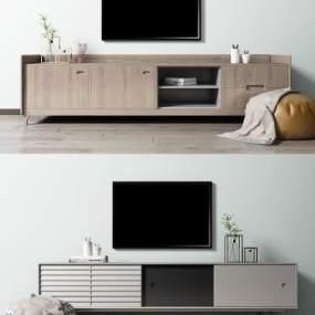 北欧电视柜组合 3D模型【ID:941336998】