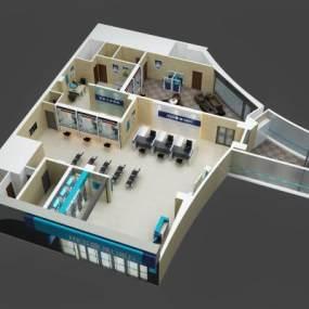 现代汉口银行3D模型【ID:945482719】