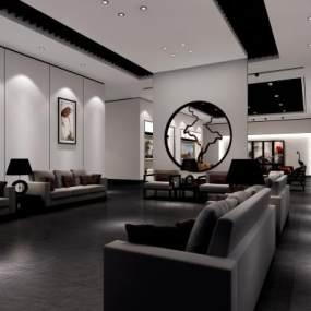 新中式展厅3D模型【ID:935352781】