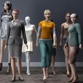 现代人物女人3D模型【ID:332202008】