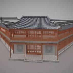 古建客栈住宿历史建筑3D模型【ID:132870969】