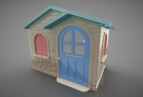 現代風格兒童器材3D模型【ID:447383185】