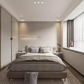 现代卧室3D模型【ID:554011299】