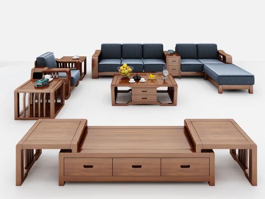中式组合沙发