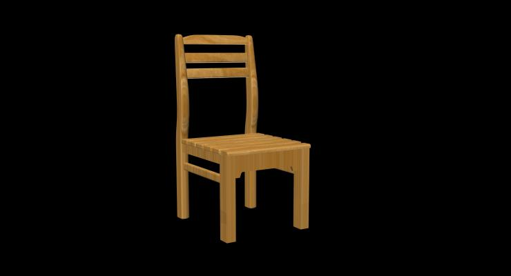 椅子3D模型【ID:740632166】
