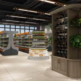 工业风超市3D模型【ID:132863191】