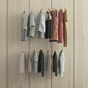 现代衣服3D模型【ID:330696787】