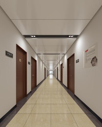 現代簡約寫實走廊過道3D模型【ID:933379595】