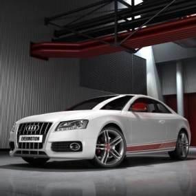 现代白色奥迪汽车3D模型【ID:432494755】