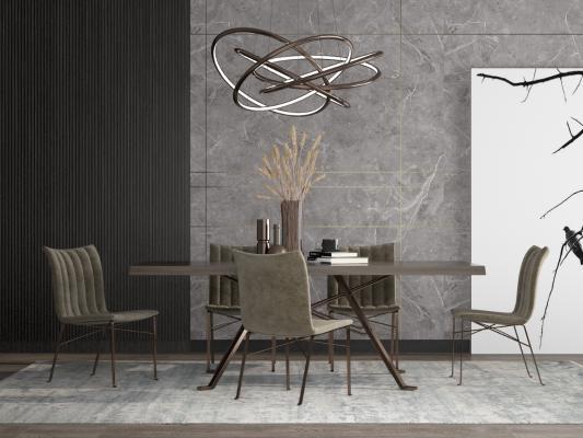 后现代餐桌椅组合