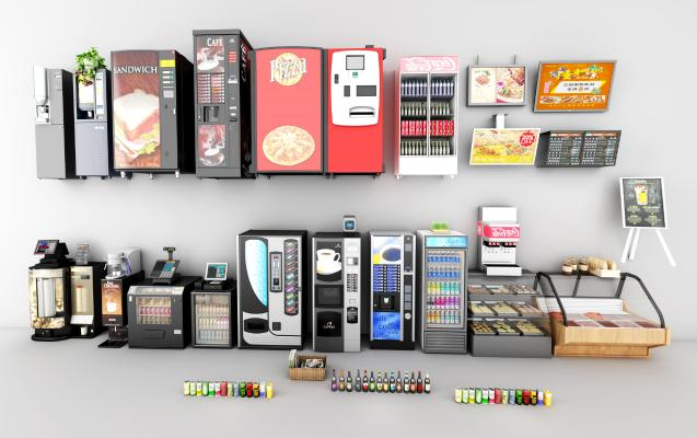 现代商场冰柜3D模型【ID:230891648】