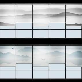 新中式窗帘卷帘模型3D模型【ID:233436699】