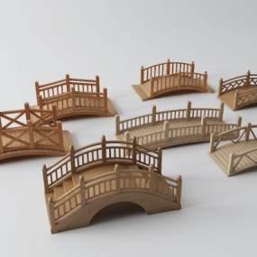 中式木桥3D模型【ID:153417449】