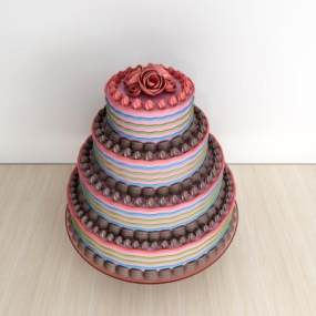 现代巧克力蛋糕3D模型【ID:632839398】