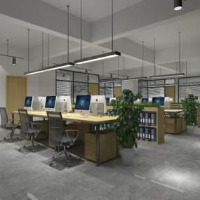 现代办公室 3D模型【ID:941518074】