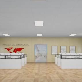 现代简约办公室3D模型【ID:947055011】