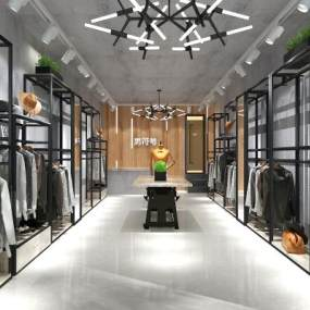 现代男装服装店3D模型【ID:135403072】