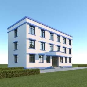现代行政办公楼3D模型【ID:153173948】