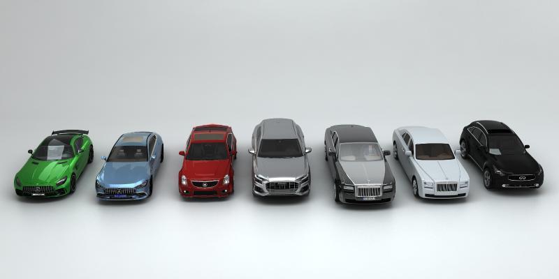 现代车群3D模型【ID:453107731】