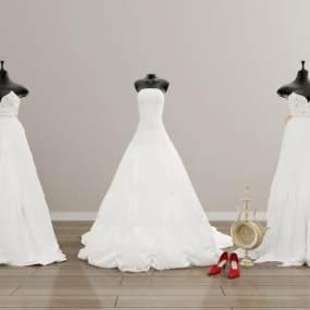 婚纱 3D模型【ID:241554568】