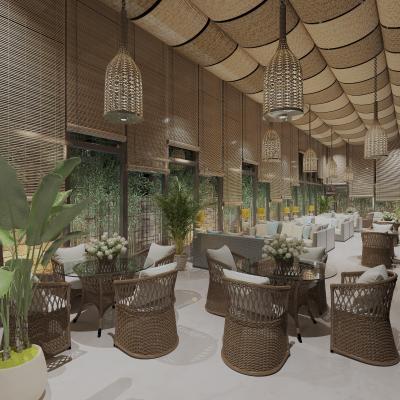 东南亚酒店大厅3D模型【ID:746363295】