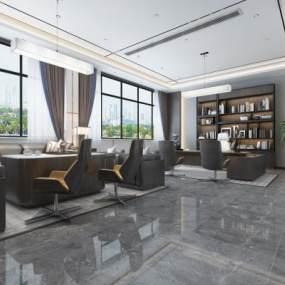 现代风格办公室3D模型【ID:948836060】