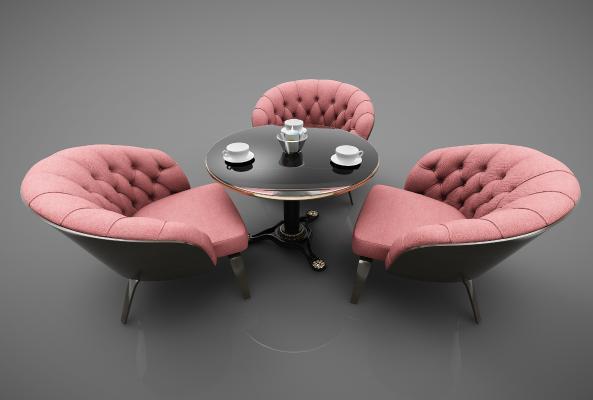 现代风格餐桌3D模型【ID:852371864】