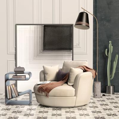 北歐單人沙發椅邊幾組合3D模型【ID:645779452】