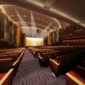 现代学校剧场报告厅3D模型【ID:933097630】