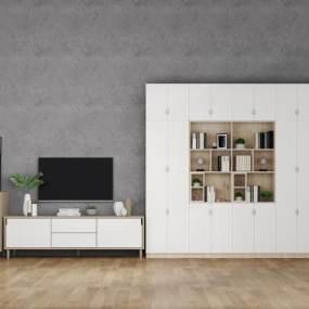 北欧电视柜3D模型【ID:144535575】