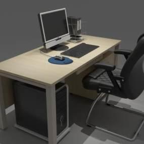 现代办公桌电脑桌3D模型【ID:930759148】