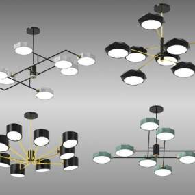 現代吊燈3D模型【ID:748969892】