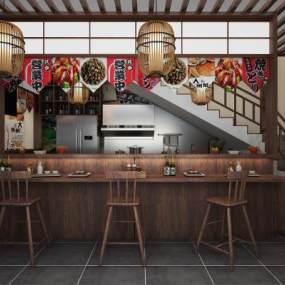 日式料理店3D模型【ID:641675596】