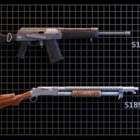 现代散弹枪3D模型【ID:432833209】