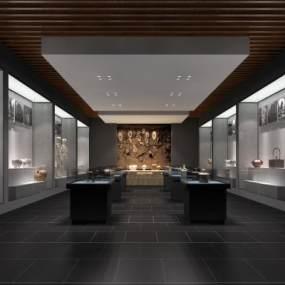 新中式博物馆3D模型【ID:931990922】
