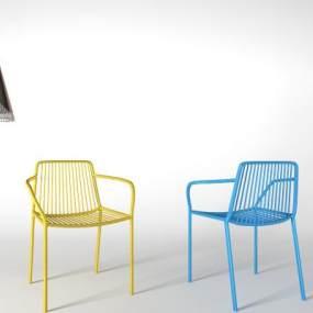 现代单椅吊灯组合3D模型【ID:734517036】