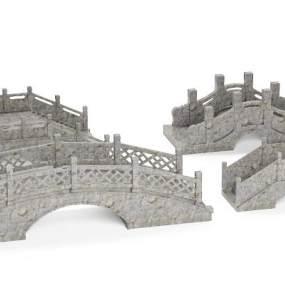 中式石桥3D模型【ID:153415472】