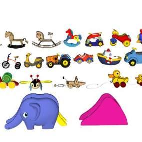 现代儿童玩具车 小马滑滑梯【ID:152091325】