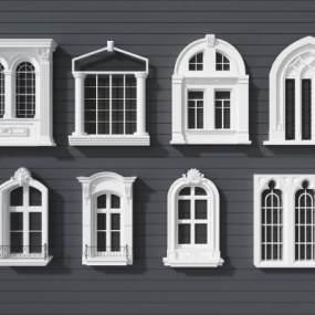 简欧窗户3D模型【ID:332690292】