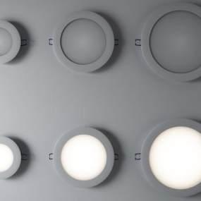 现代筒灯3D模型【ID:833691353】