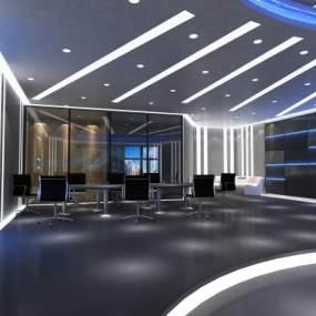 现代公安局科技大厅3D模型【ID:931286930】