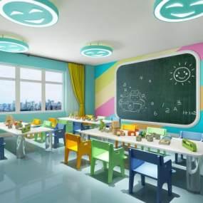 现代幼儿园教室 3D模型【ID:942336625】