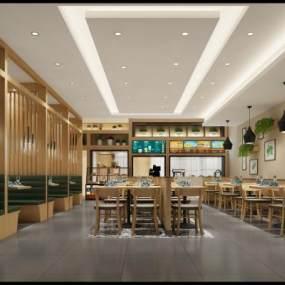 现代餐厅3D模型【ID:632746233】
