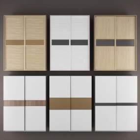 衣柜,移门衣柜,趟门衣柜,滑门衣柜,现代衣柜,移门,现代简约衣柜,3D模型【ID:130548463】