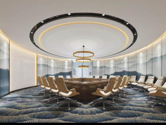 中式会议室 多功能会议室