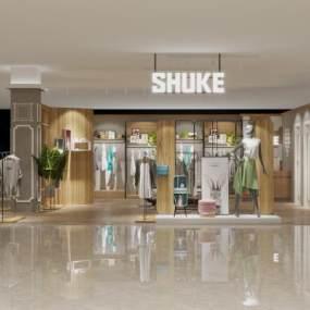 商场女服装店 3D模型【ID:141938074】