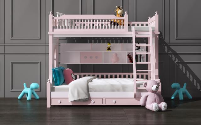 現代兒童床3D模型【ID:844776859】