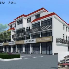 现代沿街改造商业区 3D模型【ID:135673694】